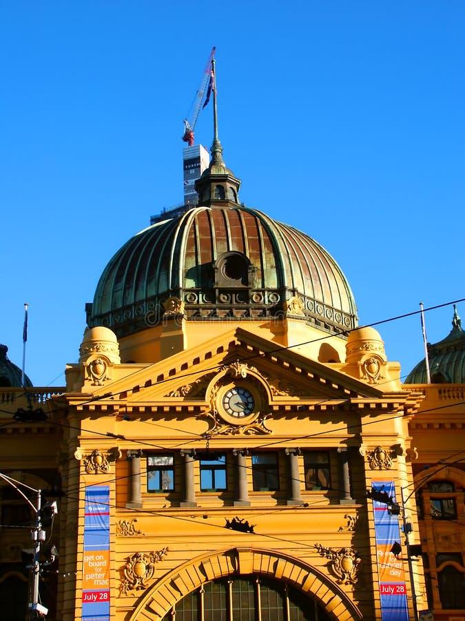 Gare de rue de Flinders photo stock