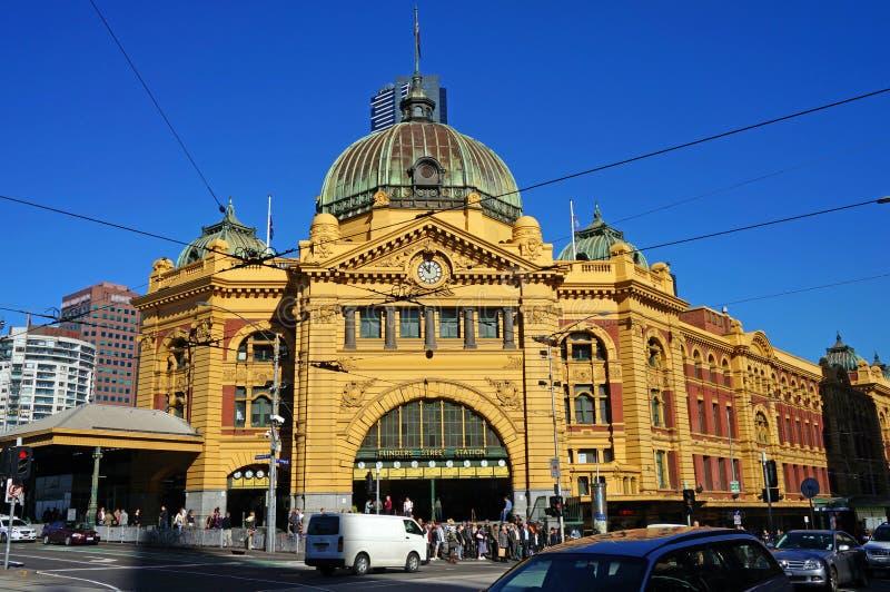 Gare de rue de Flinders (Melbourne, Australie) photos libres de droits