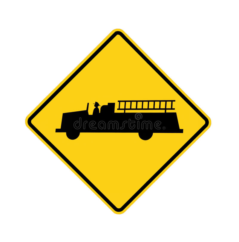 gare de signe de route d'incendie photographie stock