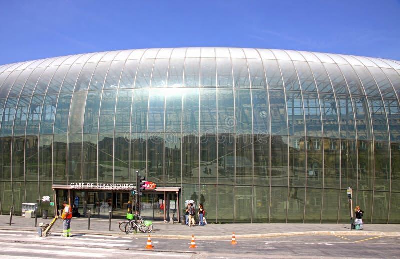Gare DE Straatsburg, het belangrijkste station van de stad van Straatsburg royalty-vrije stock fotografie