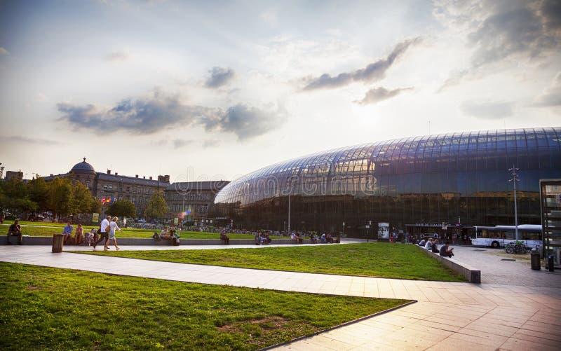Gare de Strasbourg, a estação de trem principal da cidade de Strasbourg, fotografia de stock