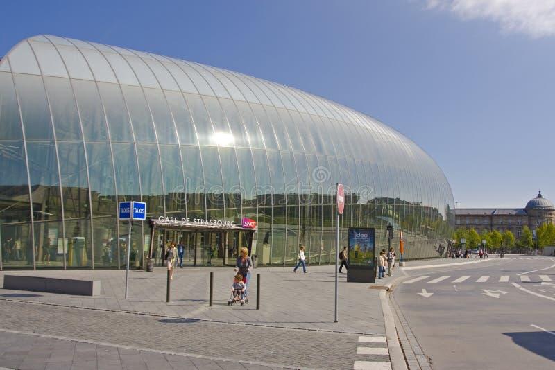 Gare de Strasbourg - Frankrike royaltyfria bilder