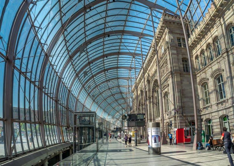 Gare de Strasburg, Strasburg, Francja obraz stock