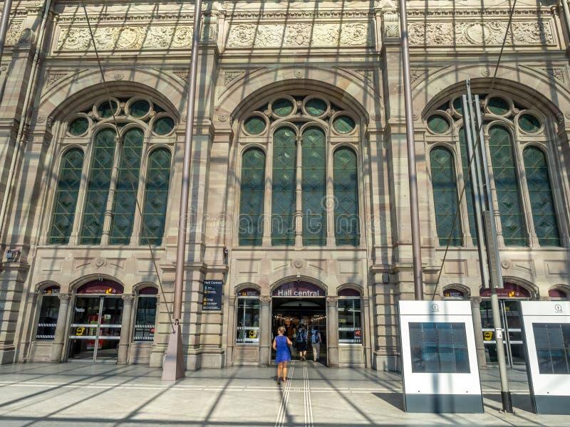 Gare de Strasburg, Strasburg, Francja fotografia royalty free