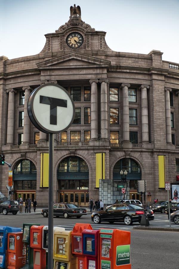 Gare de sud de Boston image libre de droits