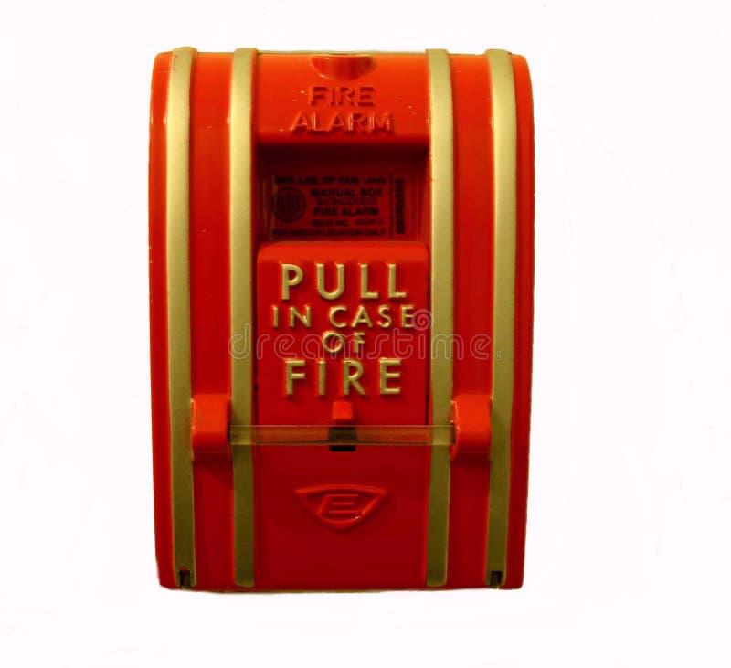 Gare de traction de signal d'incendie images libres de droits