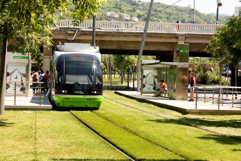 Gare de tramway. photo libre de droits