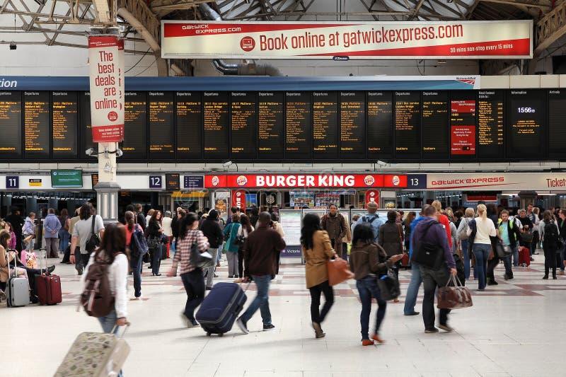Gare de Victoria, Londres photographie stock