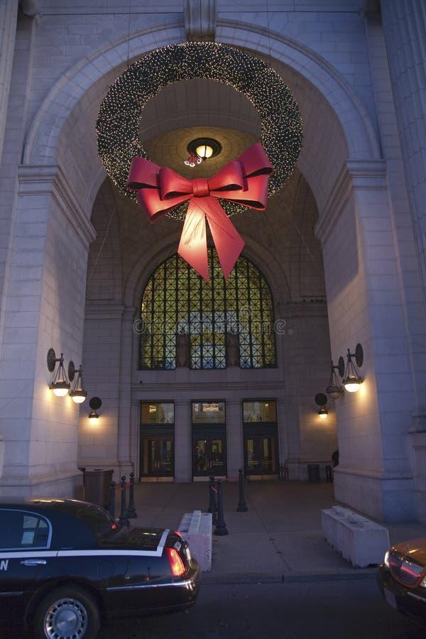 Gare des syndicats à Noël photo stock