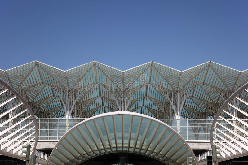 Gare Do Oriente, Lisbon Editorial Stock Photo