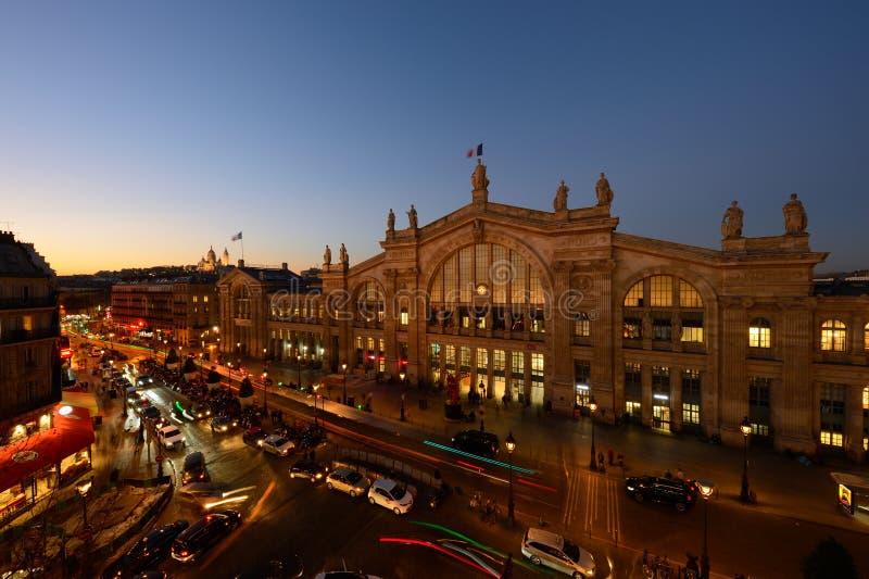 Gare Du Nord, środkowy Paryż fotografia stock