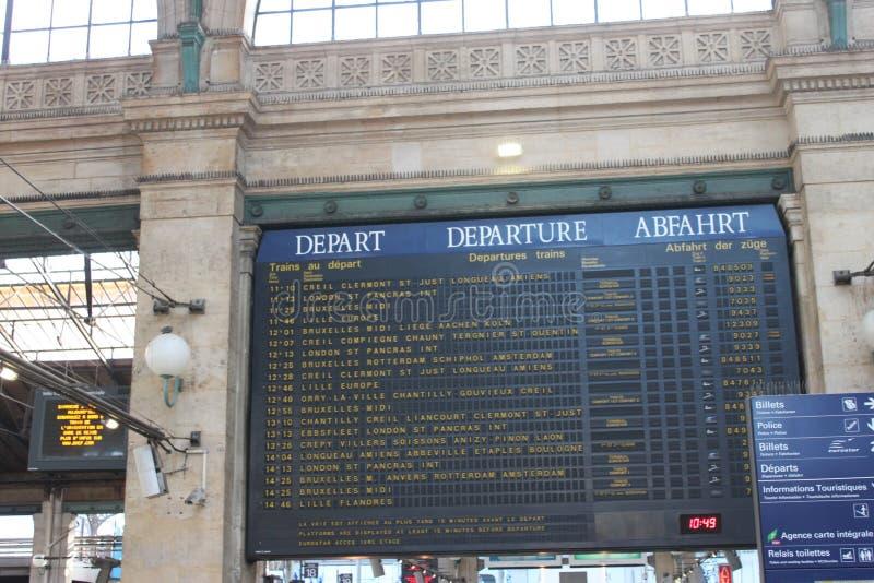 Gare du Nord - Παρίσι στοκ εικόνα με δικαίωμα ελεύθερης χρήσης