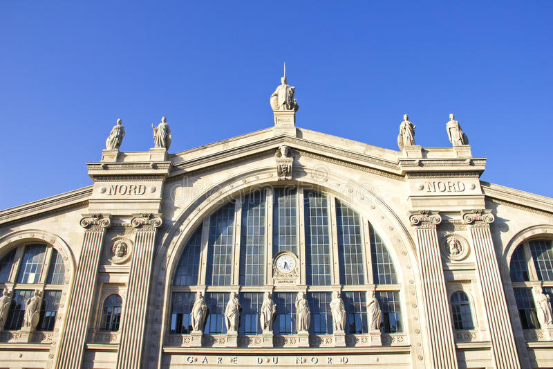 Gare Du Nord, dworzec w Paryż zdjęcia royalty free