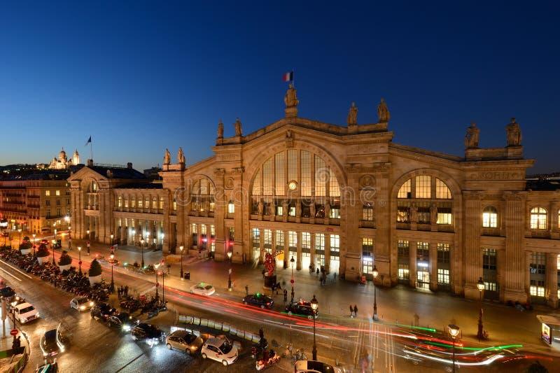 Gare du Nord, París central foto de archivo