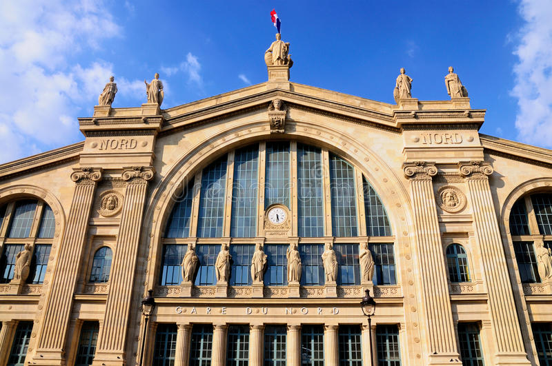 Download Gare du Nord, Paris stock image. Image of decorated, france - 20878537