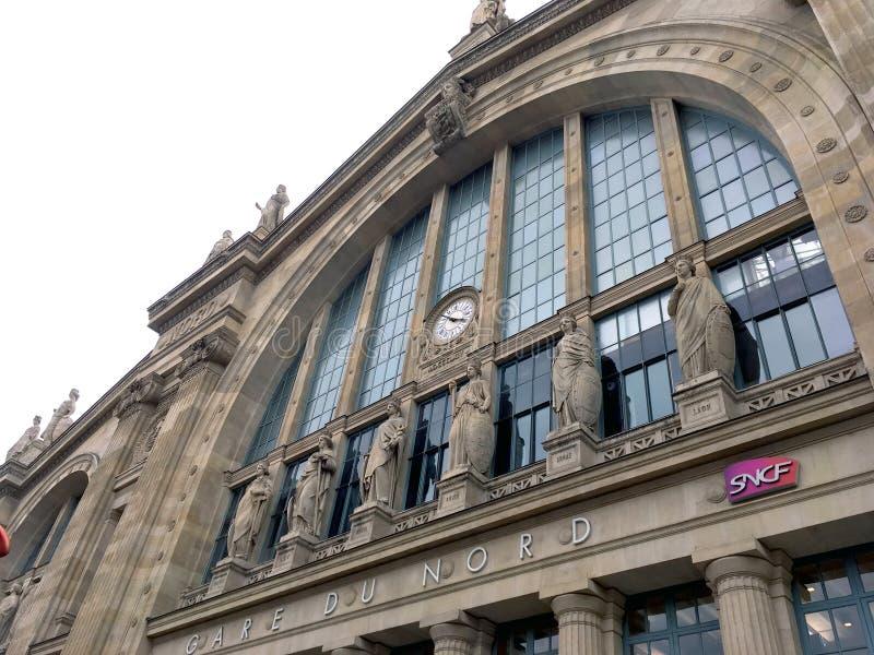 Gare du nord Paryża fotografia royalty free