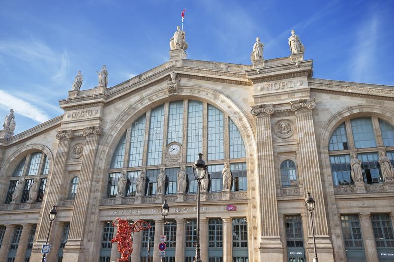 Gare Du Nord railway station royalty free stock image