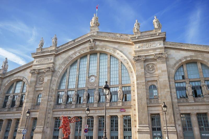 Gare Du Nord stacja kolejowa obraz royalty free