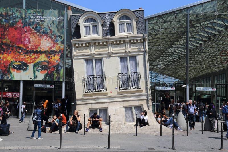 Gare Du Nord stacja kolejowa w Pary?, Francja obraz royalty free