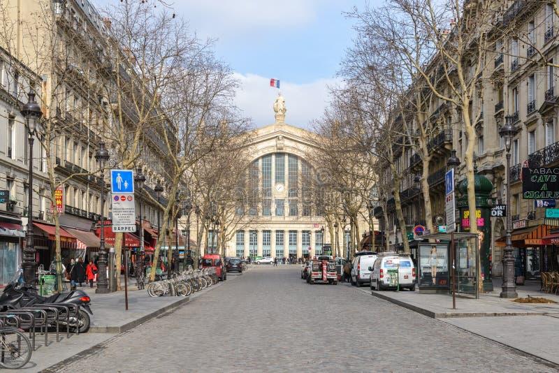 Gare Du Nord Stacjonujący zdjęcia stock