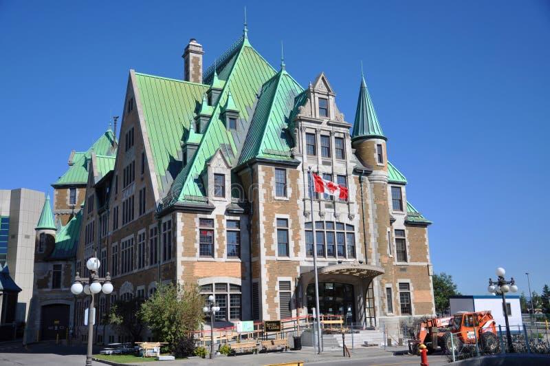 Gare du Palais, gare routière de Québec, Canada photographie stock