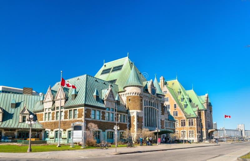 Gare du Palais, het belangrijkste station van de Stad van Quebec, Canada royalty-vrije stock afbeeldingen
