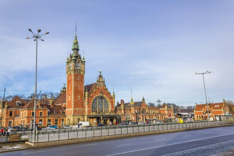 Gare ferroviaire à Danzig, Pologne images libres de droits