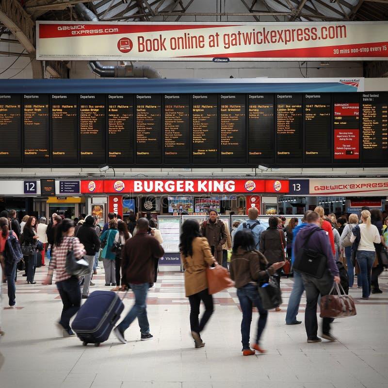 Gare ferroviaire à Londres photographie stock libre de droits