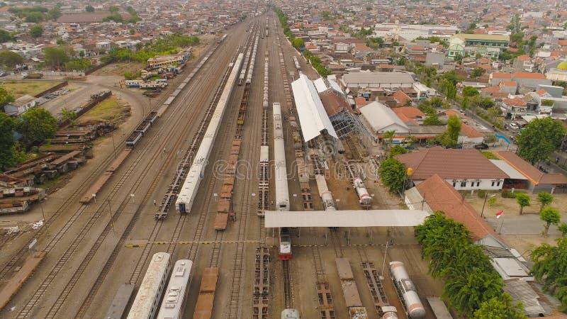 Gare ferroviaire à Sorabaya Indonésie photographie stock