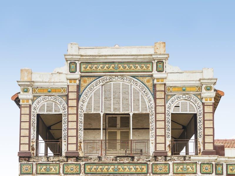 Gare ferroviaire abandonnée de Dakar, Sénégal, bâtiment colonial photos libres de droits