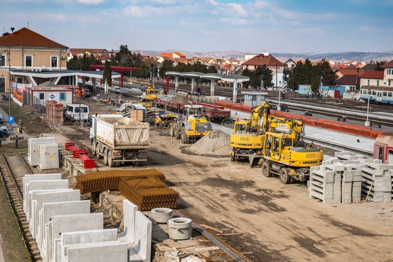 Gare ferroviaire centrale dans la rénovation et la modernisation image libre de droits