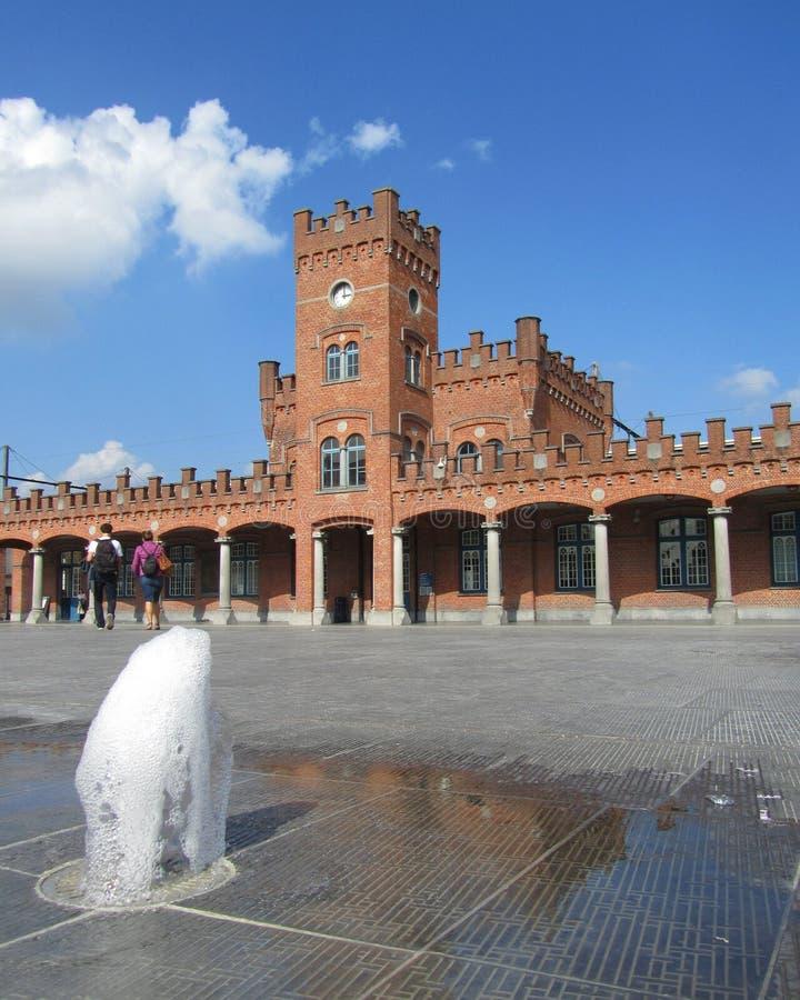 Gare ferroviaire d'Aalst photos libres de droits