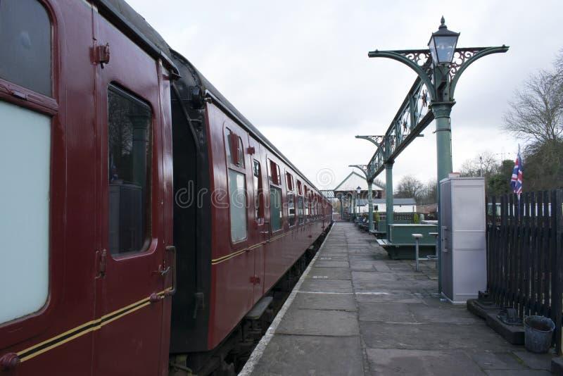 Gare ferroviaire d'héritage d'Elsecar et dépôt, Elsecar, Barnsley, événement de réchauffeur d'hiver de South Yorkshire le 19 févr photo libre de droits