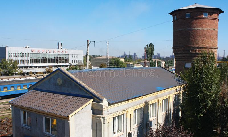 Gare ferroviaire dans Mariupol photos stock