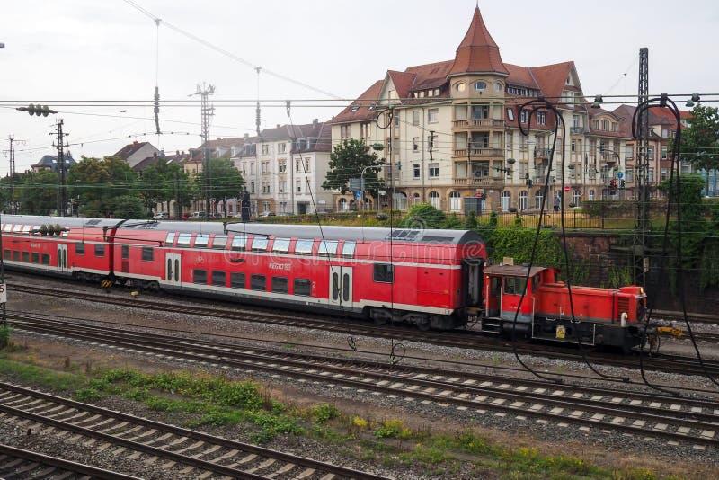 Gare ferroviaire dans Offenburg, Allemagne images stock