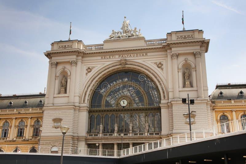 Gare ferroviaire de Budapest Keleti vue de l'ouest images libres de droits