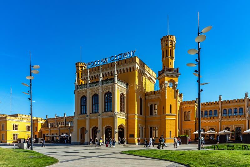 Gare ferroviaire de canalisation de Wroclaw photographie stock