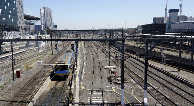 Gare ferroviaire de croix du sud, Melbourne. photo stock