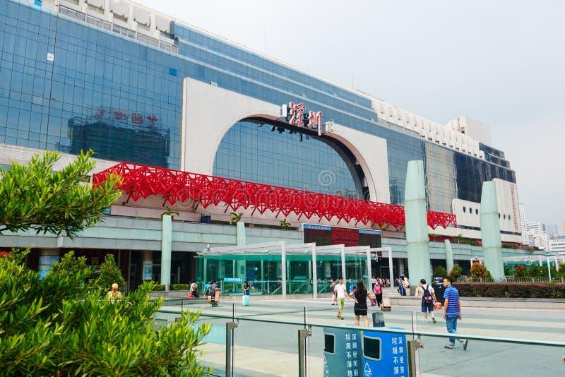 Gare ferroviaire de frontière de la Chine photo stock
