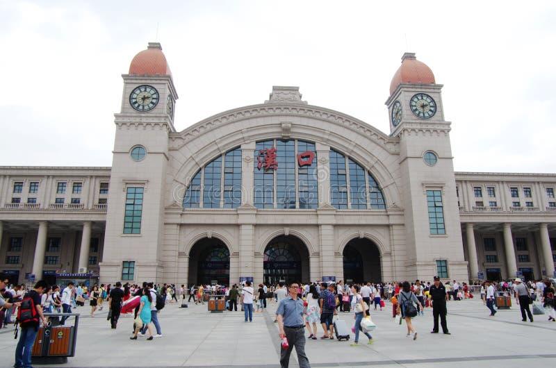 Gare ferroviaire de Hankou images libres de droits