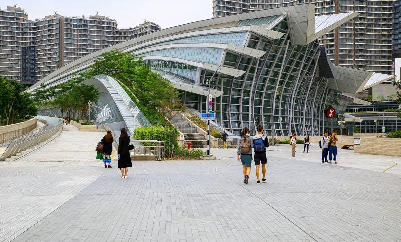 Gare ferroviaire de Hong Kong West Kowloon photos stock