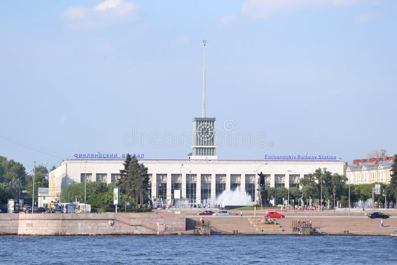 Gare ferroviaire de la Finlande photographie stock libre de droits