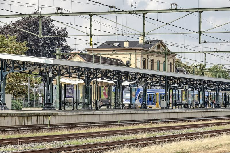 Gare ferroviaire de Meppel photo stock