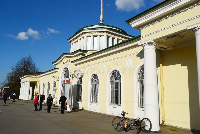 Gare ferroviaire de Pavlovsk images libres de droits