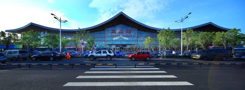 Gare ferroviaire de Sanya, Chine image libre de droits
