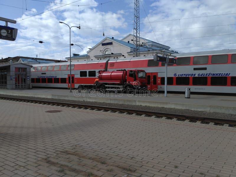 Gare ferroviaire de Vilnius image libre de droits