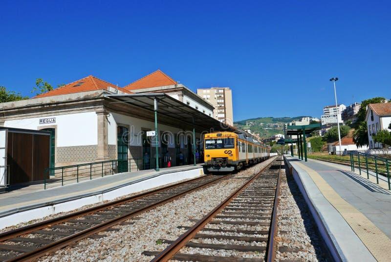 Gare ferroviaire du peso DA Regua photographie stock