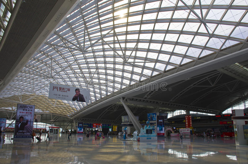 Gare ferroviaire du sud de Guangzhou en Chine photographie stock