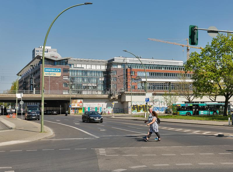 Gare ferroviaire est à Berlin, Allemagne photos stock