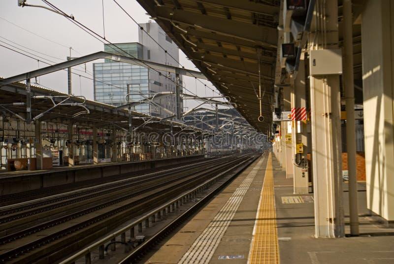 Gare ferroviaire, Fukushima, Japon photographie stock